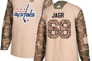 Adidas Capitals #68 Jaromir Jagr Camo Authentic 2017 Veterans Day Stanley Cup Final Champions Stitched NHL Jersey