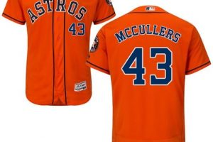 Astros #43 Lance McCullers Orange Flexbase Authentic Collection Stitched MLB Jersey
