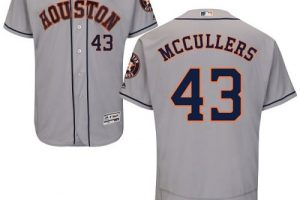 Astros #43 Lance McCullers Grey Flexbase Authentic Collection Stitched MLB Jersey