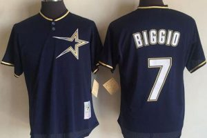 Mitchell And Ness 1997 Astros #7 Craig Biggio Navy Blue Throwback Stitched MLB Jersey