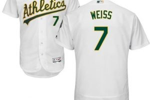 Athletics #7 Walt Weiss White Flexbase Authentic Collection Stitched MLB Jersey