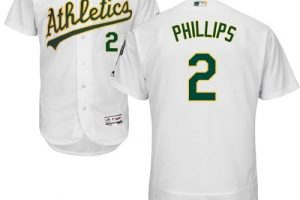 Athletics #2 Tony Phillips White Flexbase Authentic Collection Stitched MLB Jersey