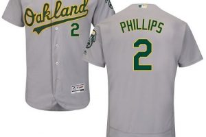 Athletics #2 Tony Phillips Grey Flexbase Authentic Collection Stitched MLB Jersey