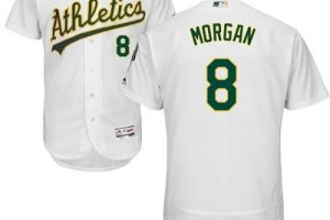 Athletics #8 Joe Morgan White Flexbase Authentic Collection Stitched MLB Jersey