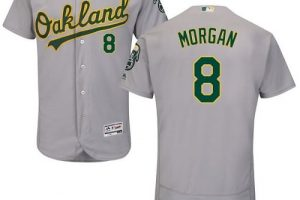 Athletics #8 Joe Morgan Grey Flexbase Authentic Collection Stitched MLB Jersey
