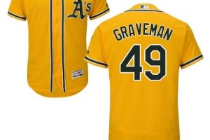 Athletics #49 Kendall Graveman Gold Flexbase Authentic Collection Stitched MLB Jersey