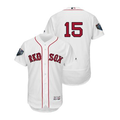 Boston Red Sox #15 Dustin Pedroia Majestic Alternate Authentic Collection Flex Base Player Jersey White