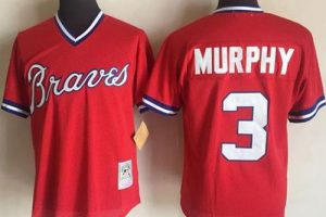 Mitchell And Ness 1980 Braves #3 Dale Murphy Red Stitched MLB Jersey