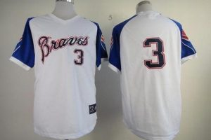 Braves #3 Dale Murphy White 1974 Throwback Stitched MLB Jersey