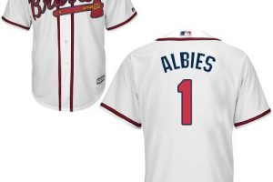 Braves #1 Ozzie Albies White New Cool Base Stitched MLB Jersey