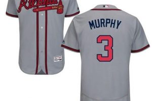 Braves #3 Dale Murphy Grey Flexbase Authentic Collection Stitched MLB Jersey