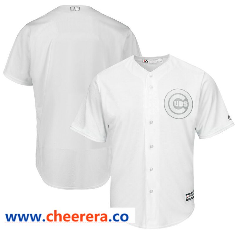 Chicago Cubs Blank Majestic 2019 Players' Weekend Flex Base Authentic Team Jersey White