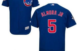 Cubs #5 Albert Almora Jr. Blue Flexbase Authentic Collection Stitched MLB Jersey