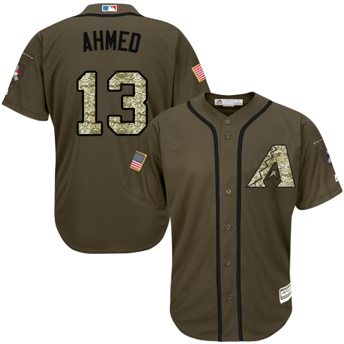 Diamondbacks #13 Nick Ahmed Camo Realtree Collection Cool Base Stitched MLB Jersey