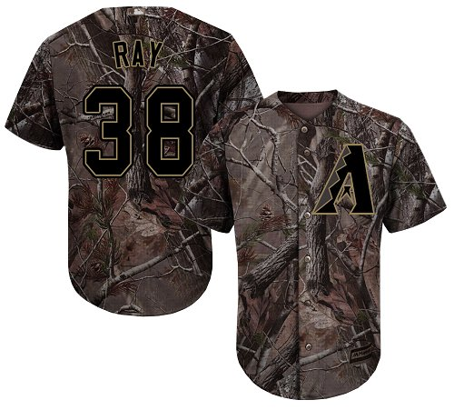 Diamondbacks #38 Robbie Ray Camo Realtree Collection Cool Base Stitched MLB Jersey