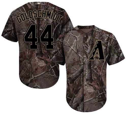 Diamondbacks #44 Paul Goldschmidt Camo Realtree Collection Cool Base Stitched MLB Jersey