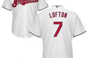 Indians #7 Kenny Lofton White New Cool Base Stitched MLB Jersey