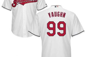 Indians #99 Ricky Vaughn White New Cool Base Stitched MLB Jersey