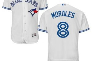 Blue Jays #8 Kendrys Morales White Flexbase Authentic Collection Stitched MLB Jersey