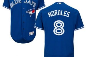 Blue Jays #8 Kendrys Morales Blue Flexbase Authentic Collection Stitched MLB Jersey