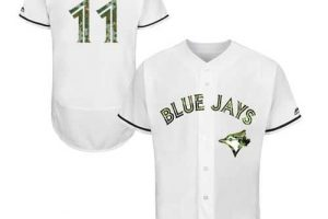 Blue Jays #11 Kevin Pillar White Flexbase Authentic Collection Memorial Day Stitched MLB Jersey