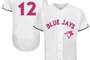 Blue Jays #12 Roberto Alomar White Flexbase Authentic Collection Mother's Day Stitched MLB Jersey
