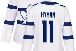 Adidas Maple Leafs #11 Zach Hyman White Authentic 2018 Stadium Series Stitched NHL Jersey
