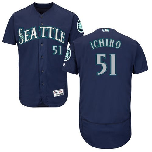 Mariners #10 Edwin Encarnacion Navy Blue Flexbase Authentic Collection Stitched MLB Jersey
