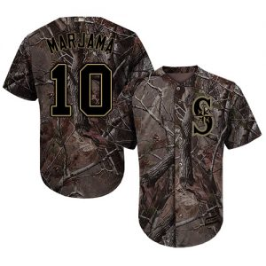 Mariners #10 Mike Marjama Camo Realtree Collection Cool Base Stitched MLB Jersey
