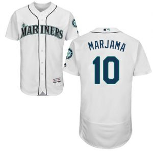 Mariners #10 Mike Marjama Cream Flexbase Authentic Collection Stitched MLB Jersey