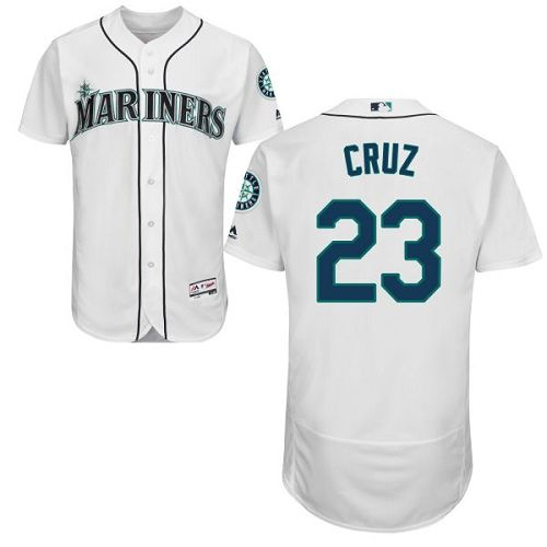 Mariners #23 Nelson Cruz White Flexbase Authentic Collection Memorial Day Stitched MLB Jersey