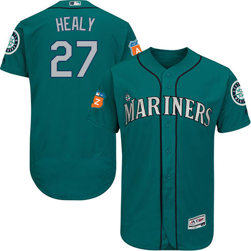 Mariners #27 Ryon Healy Green Flexbase Authentic Collection Stitched MLB Jersey