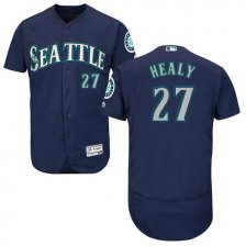 Mariners #27 Ryon Healy Navy Blue Flexbase Authentic Collection Stitched MLB Jersey