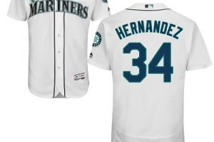 Mariners #34 Felix Hernandez White Flexbase Authentic Collection Stitched MLB Jersey