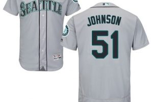 Mariners #51 Randy Johnson Grey Flexbase Authentic Collection Stitched MLB Jersey