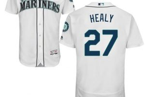 Mariners #27 Ryon Healy White Flexbase Authentic Collection Stitched MLB Jersey