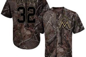 marlins #32 Derek Dietrich Camo Realtree Collection Cool Base Stitched MLB Jersey
