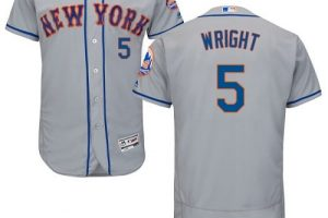 Mets #5 David Wright Grey Flexbase Authentic Collection Stitched MLB Jersey