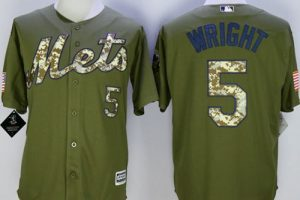 Mets #5 David Wright Green Camo New Cool Base Stitched MLB Jersey
