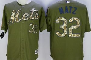 Mets #32 Steven Matz Green Camo New Cool Base Stitched MLB Jersey