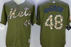 Mets #48 Jacob DeGrom Green Camo New Cool Base Stitched MLB Jersey