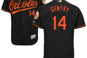 Orioles #14 Craig Gentry Black Flexbase Authentic Collection Stitched MLB Jersey