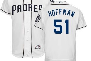 Padres #51 Trevor Hoffman White Flexbase Authentic Collection Stitched MLB Jersey