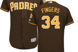 Padres #34 Rollie Fingers Brown Flexbase Authentic Collection Stitched MLB Jersey