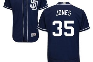 Padres #35 Randy Jones Navy Blue Flexbase Authentic Collection Stitched MLB Jersey