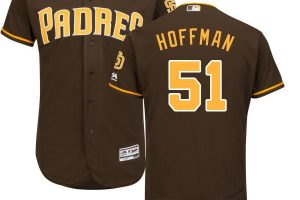 Padres #51 Trevor Hoffman Brown Flexbase Authentic Collection Stitched MLB Jersey