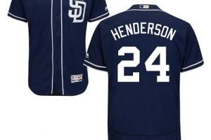 Padres #24 Rickey Henderson Navy Blue Flexbase Authentic Collection Stitched MLB Jersey