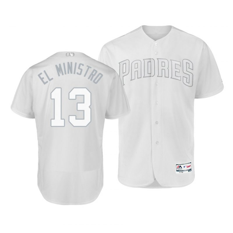 """Padres #13 Manny Machado White """"El Ministro"""" Players Weekend Cool Base Stitched MLB Jersey"""