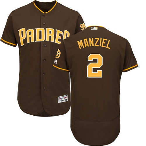 Padres #2 Johnny Manziel Brown Flexbase Authentic Collection Stitched MLB Jersey