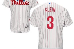 Phillies #3 Chuck Klein White(Red Strip) Flexbase Authentic Collection Stitched MLB Jersey